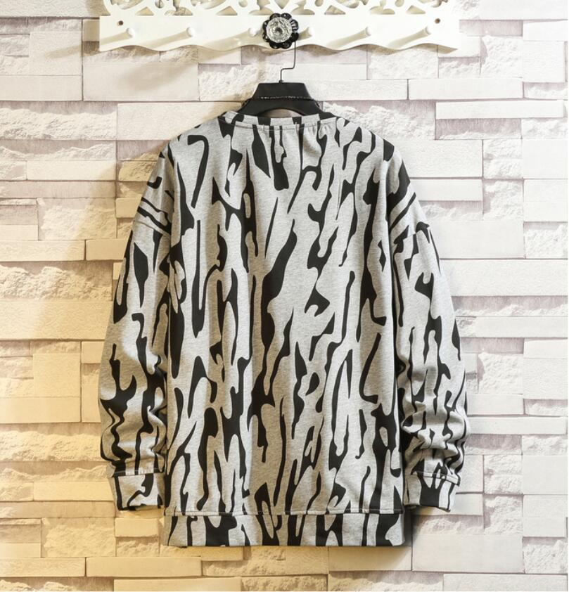 春2021 新品 Tシャツ スウェット パーカー カジュアル プルオーバー トレーナー メンズ トップス ヒョウ柄 ゆったり[M~5XL]選択可 白_画像4