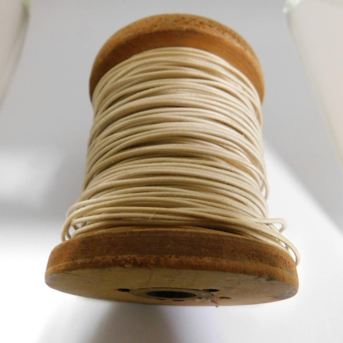米国 ダブルコットン巻 裸銅線 1.05mm径 2m切売り_画像2