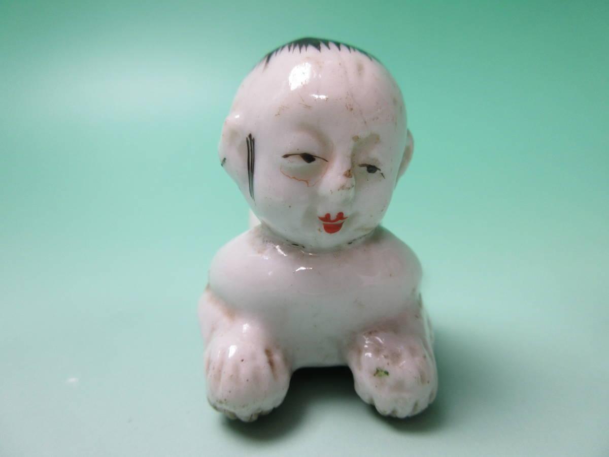 W99 ☆ ままごと人形 男の子 這い子 戦前 検)郷土玩具 時代物 ビンテージ アンティーク 土人形 泥人形 陶器人形_画像3