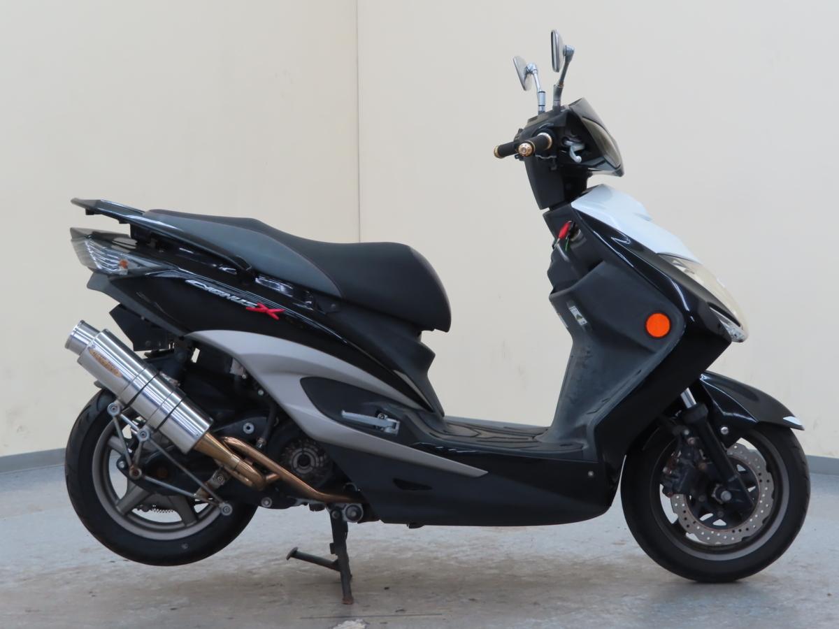 「ヤマハ シグナスX 【動画有】ローン可 SE44J オイル交換済 新品ヘルメット付 カスタム車 125cc 原付2種 通勤用 通学用 YAMAHA 売切り」の画像2
