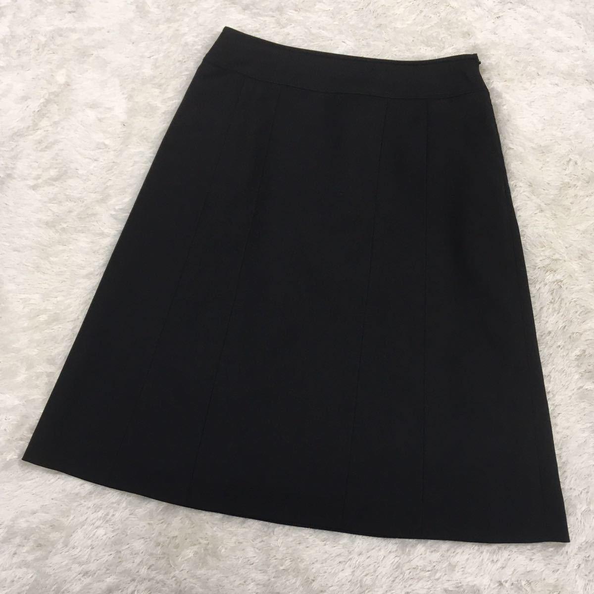 any sis エニィスィス オンワード樫山 スカートスーツ セットアップ テーラードジャケット レディース サイズ1 黒