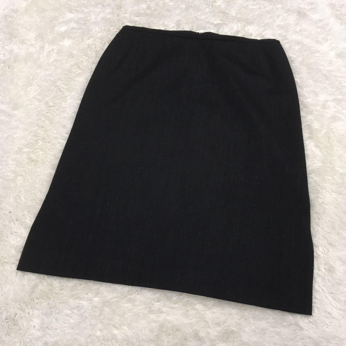 UNTITLED アンタイトル スーツスカート セットアップ テーラードジャケット ウール レディース 11号 チャコールグレー