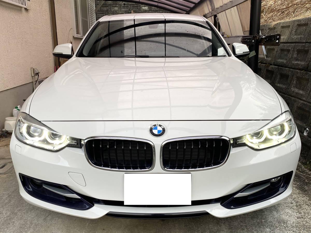 「BMW 320I スポーツ F30 ホワイト 純正HDDナビ 平成24年 走行 79800㎞ 8AT」の画像1