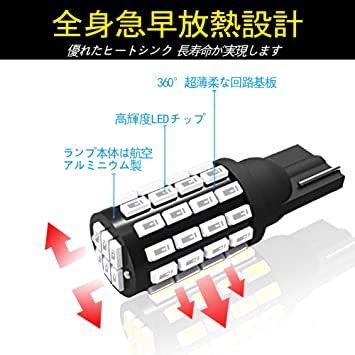 赤色 T10 GOSMY T10 LED レッド 爆光 12V-24V車用ライセンスランプ/ナンバー灯/ルームランプ/メーター球_画像4