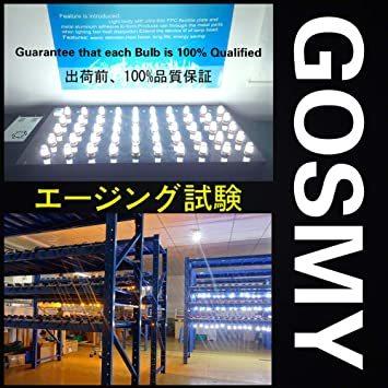 赤色 T10 GOSMY T10 LED レッド 爆光 12V-24V車用ライセンスランプ/ナンバー灯/ルームランプ/メーター球_画像8