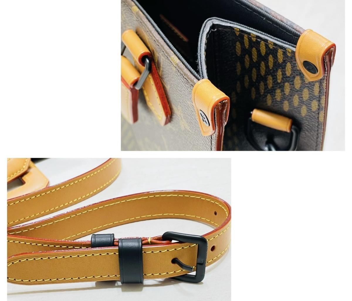 Louis Vuitton ルイヴィトン NIGO コラボ 2way ミニトート ショルダーバッグ ダミエ・エベヌ ジャイアントキャンバス モノグラム N40355_画像6