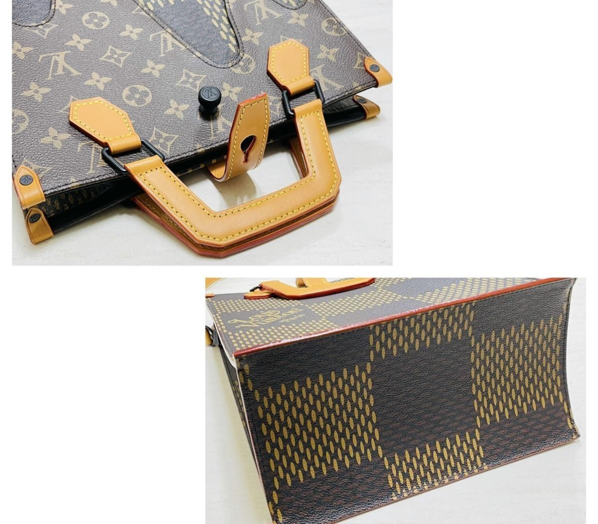 Louis Vuitton ルイヴィトン NIGO コラボ 2way ミニトート ショルダーバッグ ダミエ・エベヌ ジャイアントキャンバス モノグラム N40355_画像5