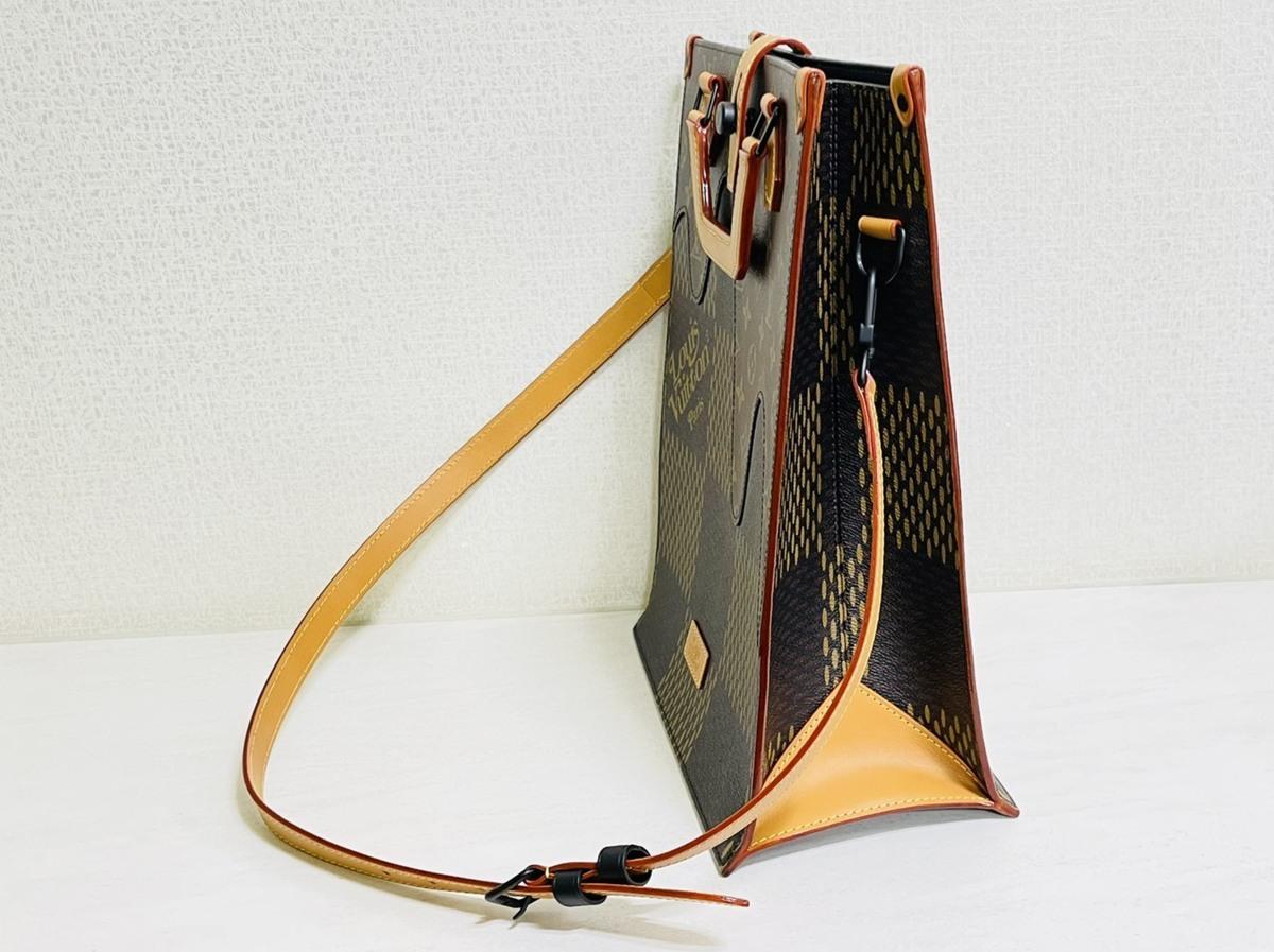 Louis Vuitton ルイヴィトン NIGO コラボ 2way ミニトート ショルダーバッグ ダミエ・エベヌ ジャイアントキャンバス モノグラム N40355_画像3