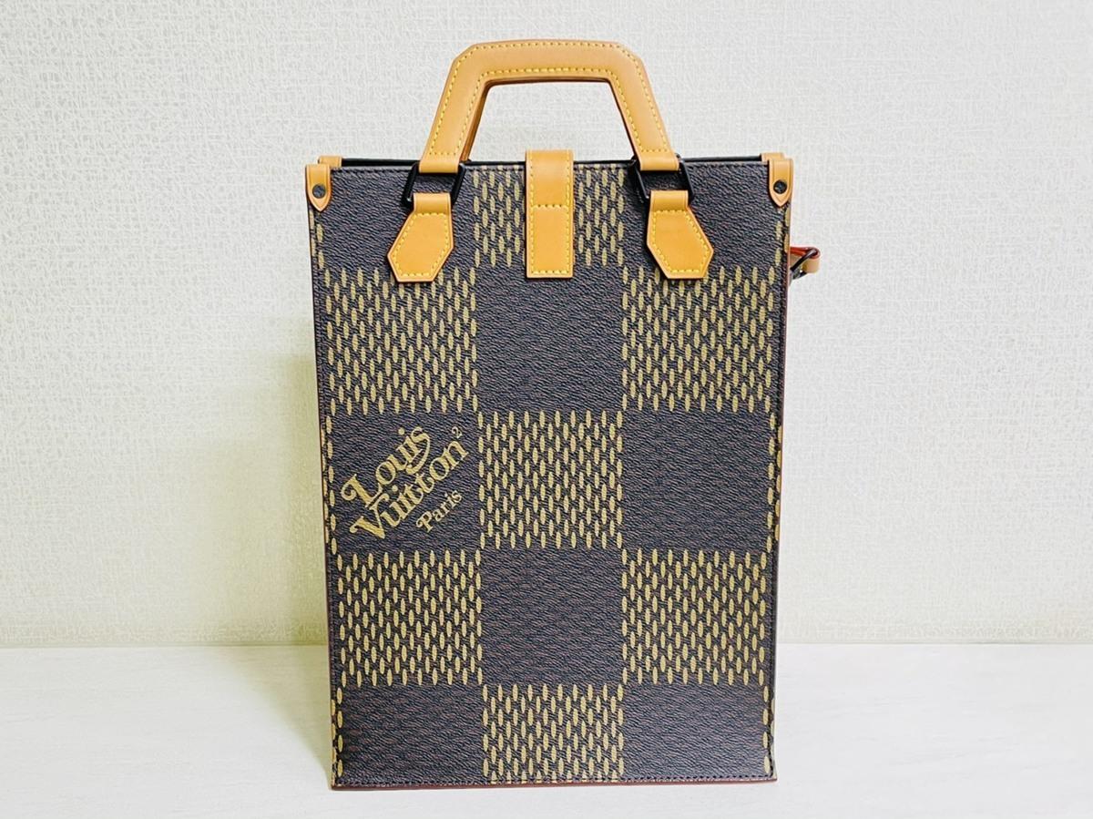 Louis Vuitton ルイヴィトン NIGO コラボ 2way ミニトート ショルダーバッグ ダミエ・エベヌ ジャイアントキャンバス モノグラム N40355_画像2