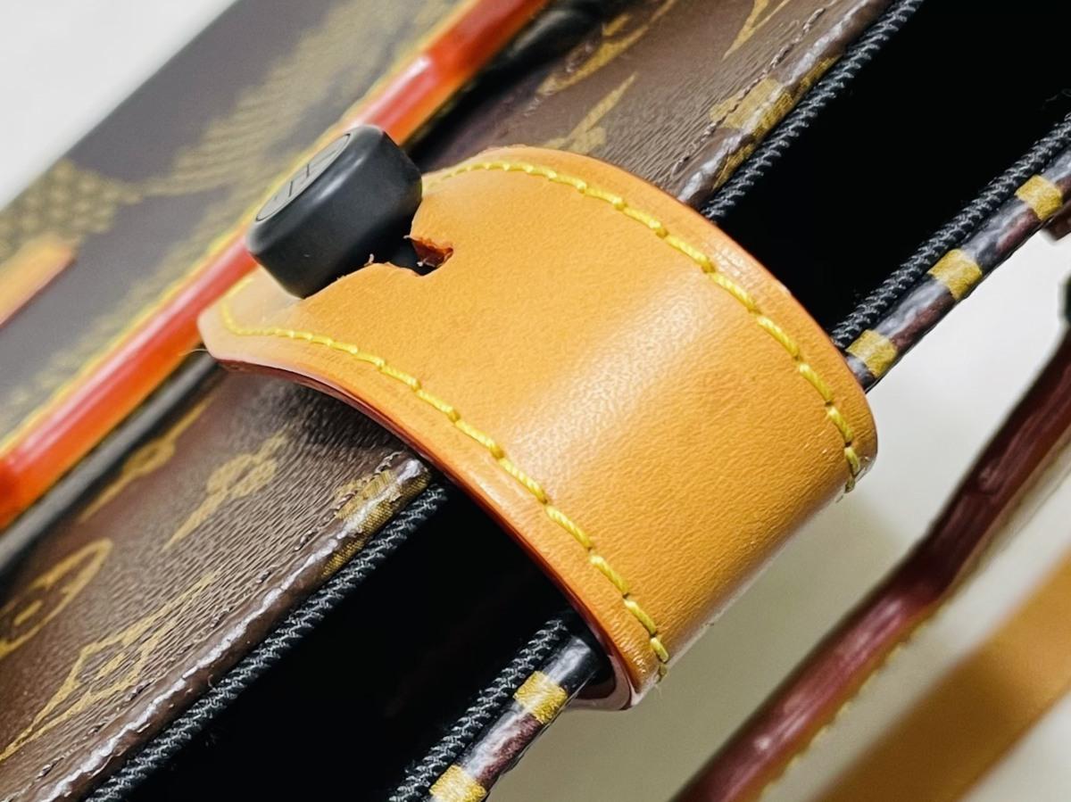 Louis Vuitton ルイヴィトン NIGO コラボ 2way ミニトート ショルダーバッグ ダミエ・エベヌ ジャイアントキャンバス モノグラム N40355_画像9