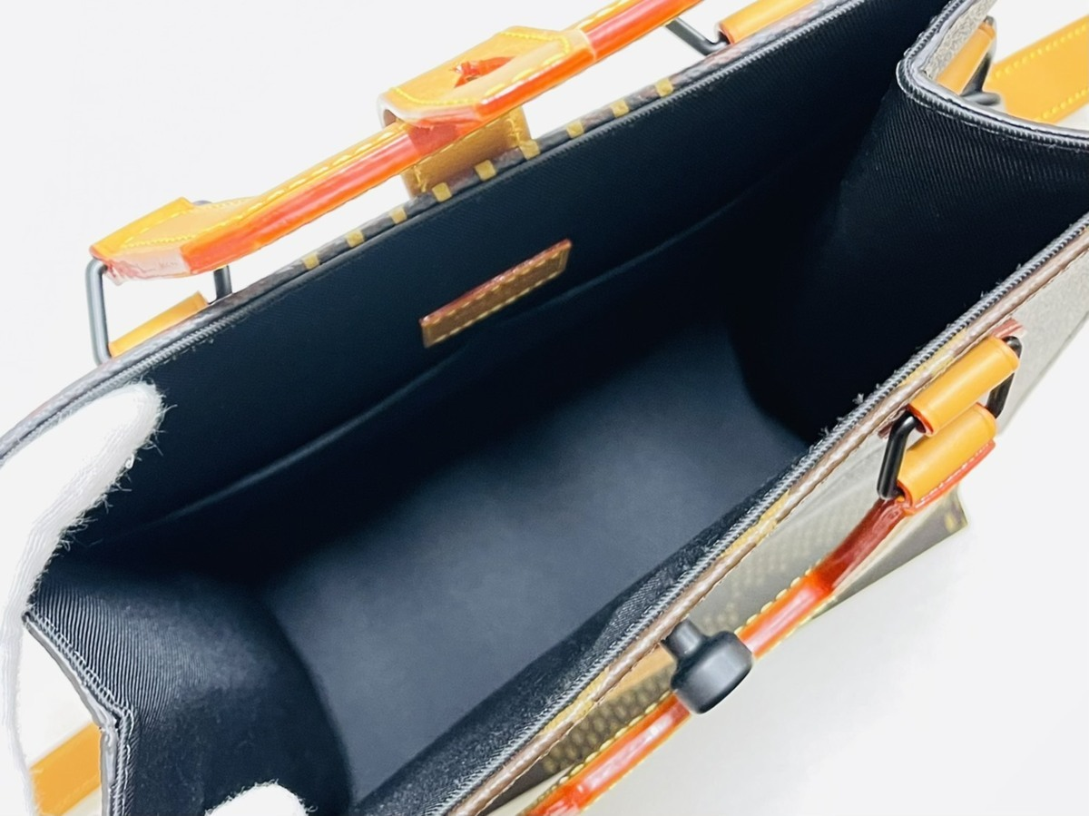 Louis Vuitton ルイヴィトン NIGO コラボ 2way ミニトート ショルダーバッグ ダミエ・エベヌ ジャイアントキャンバス モノグラム N40355_画像4