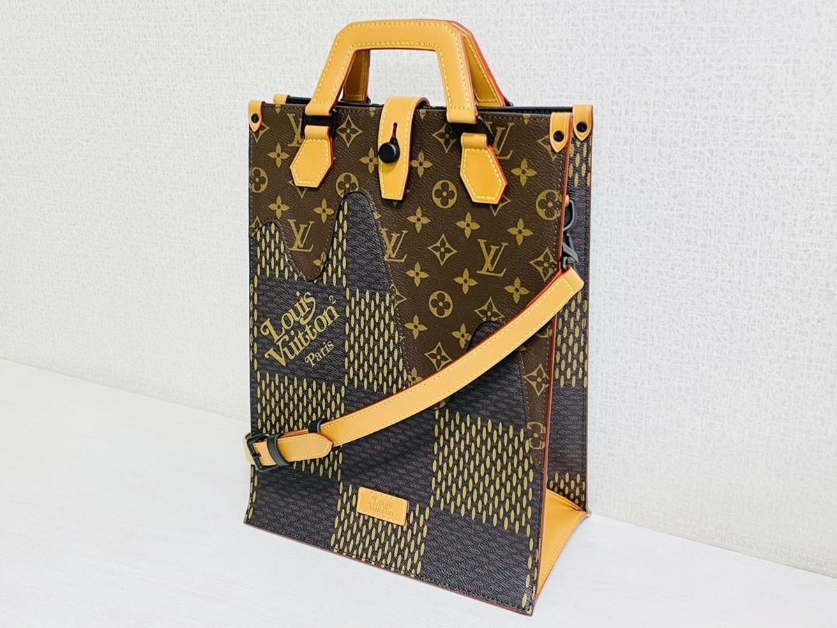 Louis Vuitton ルイヴィトン NIGO コラボ 2way ミニトート ショルダーバッグ ダミエ・エベヌ ジャイアントキャンバス モノグラム N40355_画像1