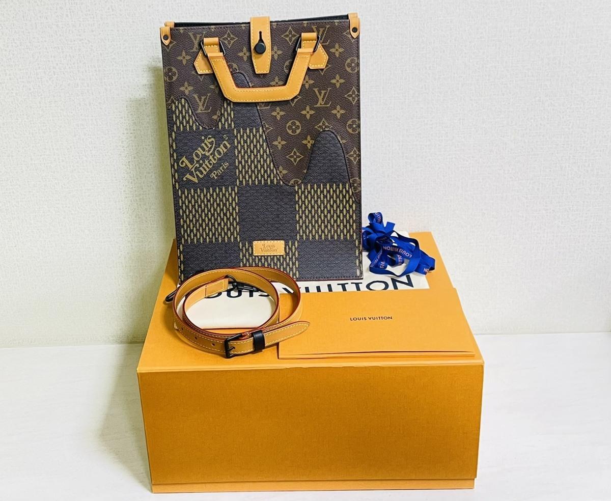 Louis Vuitton ルイヴィトン NIGO コラボ 2way ミニトート ショルダーバッグ ダミエ・エベヌ ジャイアントキャンバス モノグラム N40355_画像10