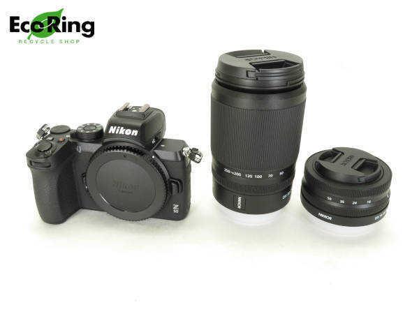 1円 未使用 ニコン Z50 DX 16-50mm DX 50-250mmKit ブラック 一眼レフ カメラ AR666