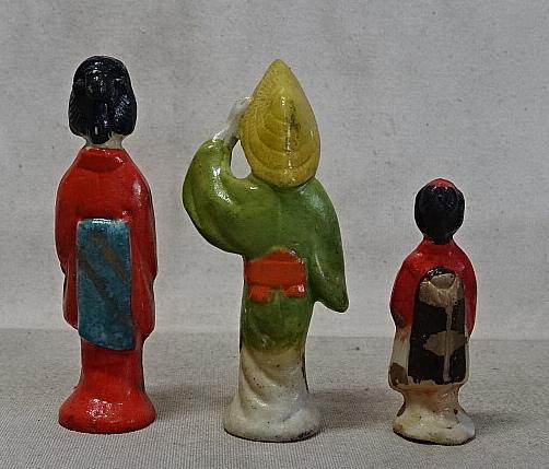 時代・磁器人形・まとめて 射的人形/土人形/舞妓/芸者/郷土玩具/戦前_画像7