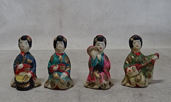 時代・磁器人形・まとめて 射的人形/土人形/舞妓/芸者/郷土玩具/戦前_画像3