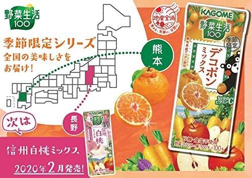 【即決・送料無料】カゴメ 野菜生活100 デコポンミックス 195ml 24本_画像3