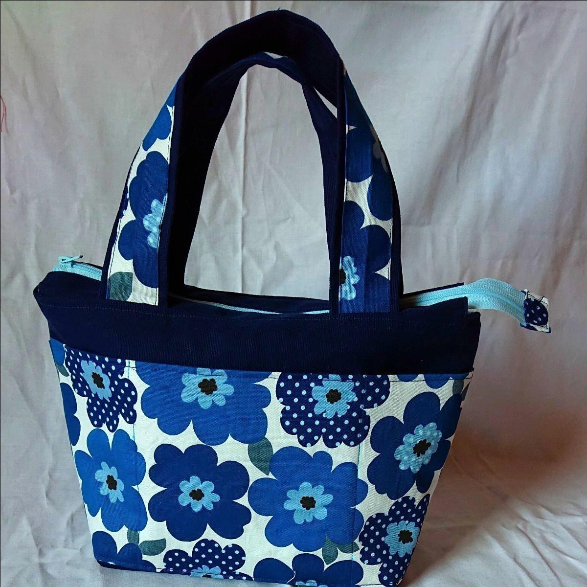 ハンドメイド   花柄ミニトートバッグ