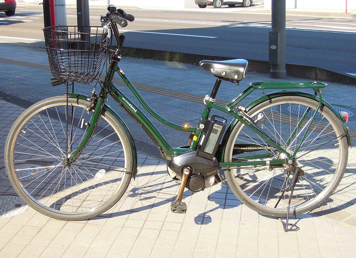 2586)YAMAHA ヤマハ PAS Ami パスアミ PA26A 電動アシスト自転車 ディープグリーン
