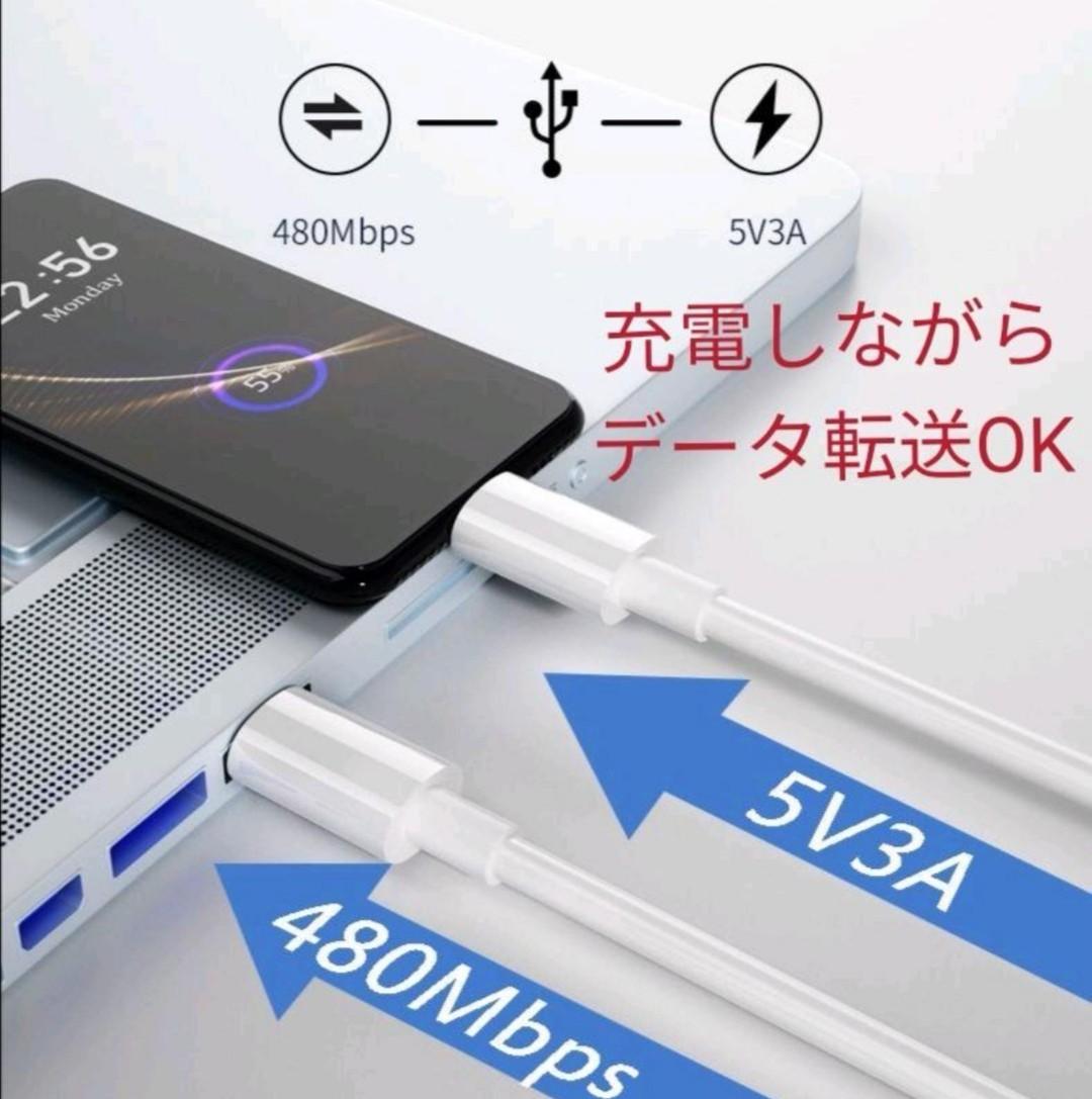iPhoneライトニング 1m 2本 USB-C to Lightning ライトニングケーブル iPhone充電ケーブル