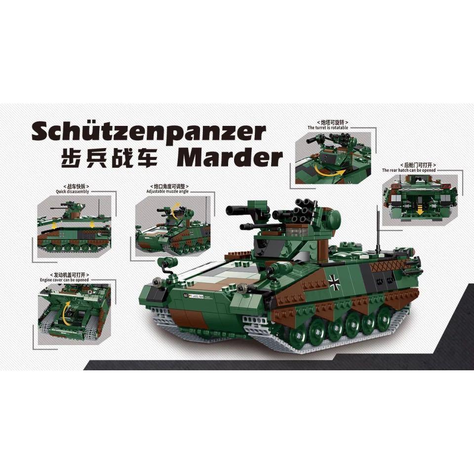 LEGO互換 マルダー歩兵戦闘車_画像2