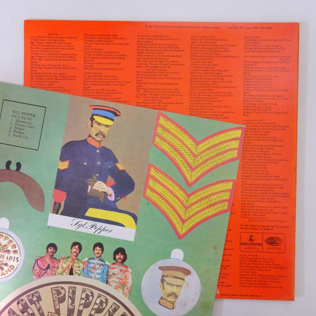 13036225;【UK盤/MONO/美盤】The Beatles / Sgt. Pepper's Lonely Hearts Club Band_画像2