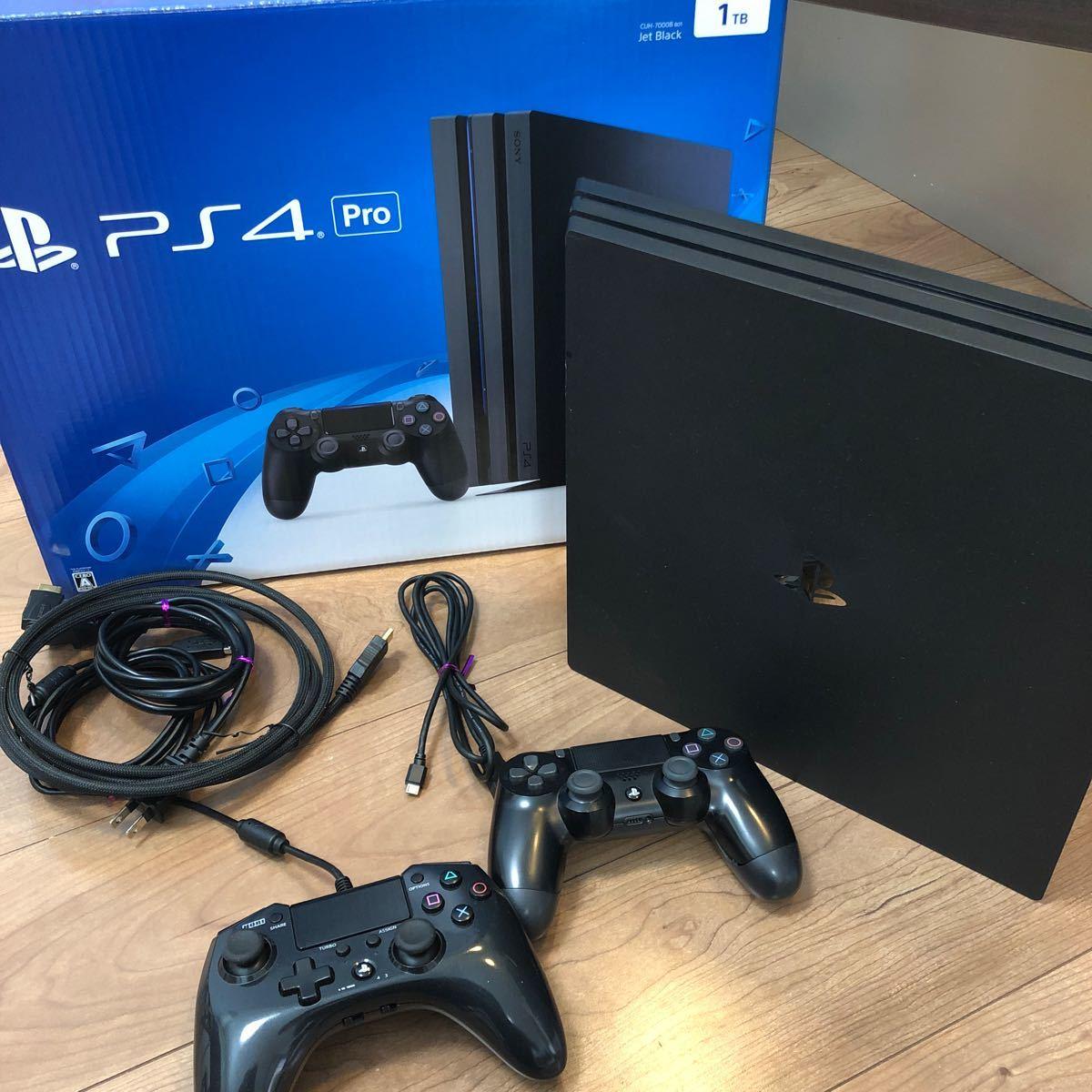 PS4 Pro PlayStation4 1TB ホリパッドfpsプラス 縦置き用スタンド 付き
