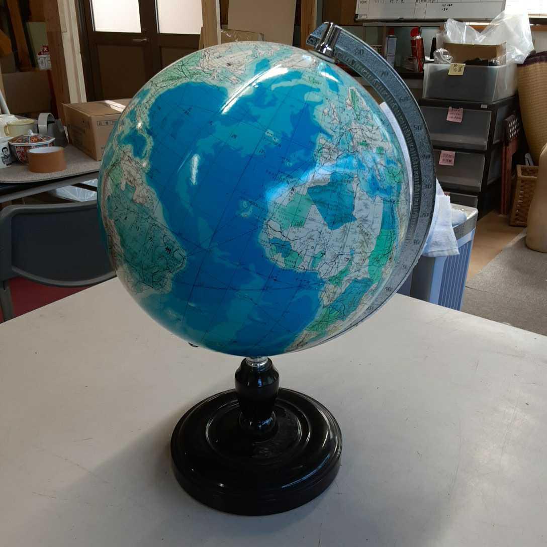 学校系】②WORLD 地球儀 アンティーク インテリア ビンテージ レトロ ディスプレイ 机上アクセサリー 地理 学生 勉強 世界地図 _画像1