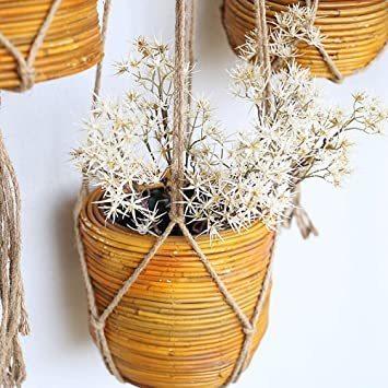 プラントハンガー TIMESETL 6 Pcs プラントハンガー 観葉植物 吊り下げ マクラメ ハンギングプランター 植物 おし_画像5