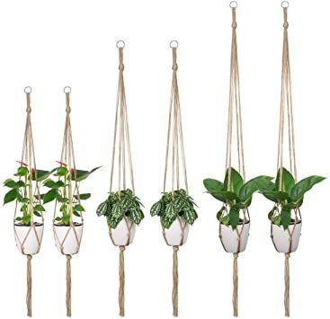 プラントハンガー TIMESETL 6 Pcs プラントハンガー 観葉植物 吊り下げ マクラメ ハンギングプランター 植物 おし_画像6