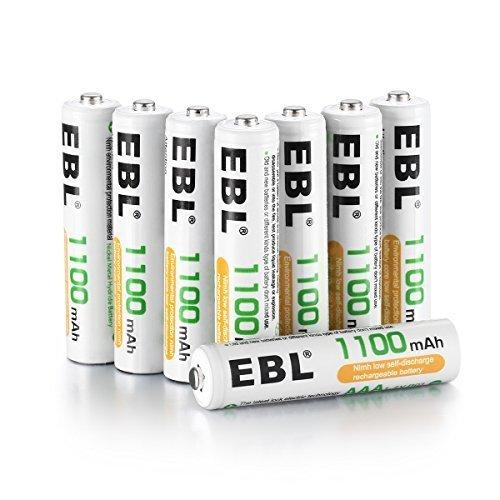 サイズ単4電池1100mAh×8本 EBL 単4形充電池 充電式ニッケル水素電池 高容量1100mAh 8本入り 約1200回使用_画像1