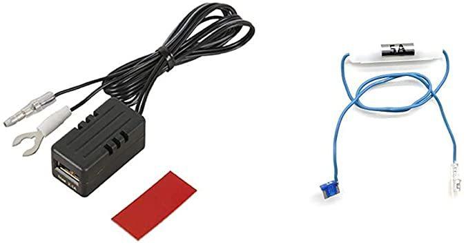 後部座席延長用(充電用)+低背ヒューズ電源 エーモン USB電源ポート MAX2.1A 後部座席延長用 2880 & _画像1