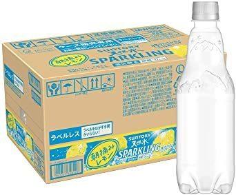 新品特価/500ml×24本(ラベルレス) [炭酸水] サントリー 天然水スパークリング レモン ラベルレス 500ml &ti_画像1