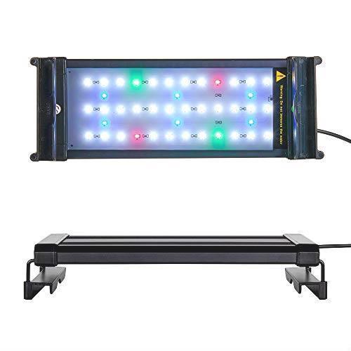アクアリウム 2色LEDライト 水槽ライト 超明るい 30~50CM対応 超薄い 省エネ 7.5W 水槽照明 観賞魚飼育 水草育成 42LED 長寿命 白/青_画像1