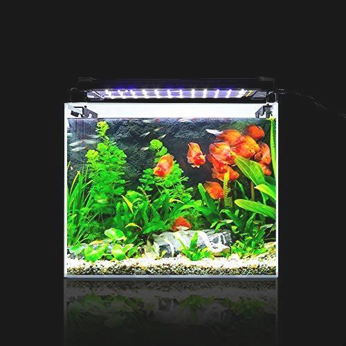 アクアリウム 2色LEDライト 水槽ライト 超明るい 30~50CM対応 超薄い 省エネ 7.5W 水槽照明 観賞魚飼育 水草育成 42LED 長寿命 白/青_画像7