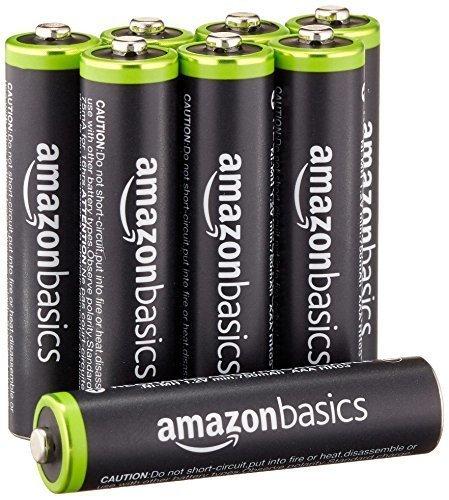 新品セール・ベーシック 充電池 充電式ニッケル水素電池 単4形8個セット (最小容量800mAh、約1000回使用可能)_画像1