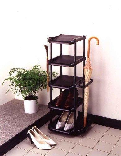 ブラック ライクイット(like-it)靴収納シューズラック 5段幅35.5x奥31x高87cmブラック日本製_画像2