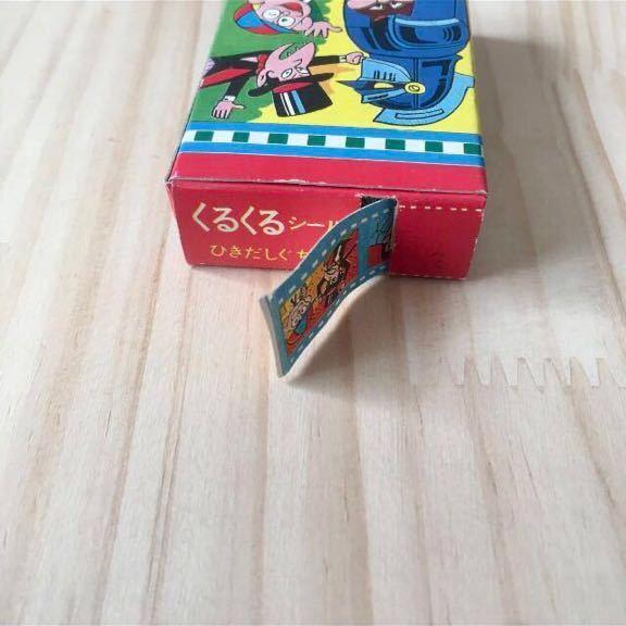 昭和レトロ 70年代 当時物 キャラクター シール くるくる 怪物くん 駄玩具 駄菓子屋 デッドストック おもちゃ ビンテージ_画像5