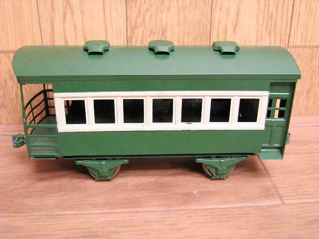 ・80 当時物 KTM カツミ 鉄道模型 ブリキ 完成貨車 スケールモデル Oゲージ 緑 青 昭和 レトロ アンティーク_画像2