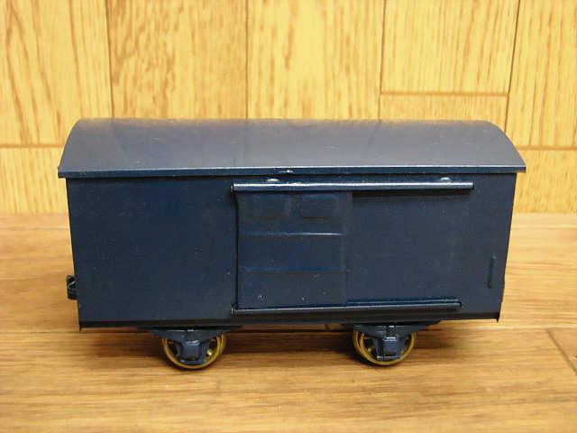 ・80 当時物 KTM カツミ 鉄道模型 ブリキ 完成貨車 スケールモデル Oゲージ 緑 青 昭和 レトロ アンティーク_画像6