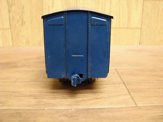 ・80 当時物 KTM カツミ 鉄道模型 ブリキ 完成貨車 スケールモデル Oゲージ 緑 青 昭和 レトロ アンティーク_画像8