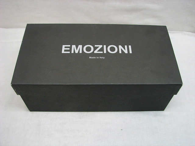 ・82 程度良 EMOZIONI エモジオーニ レザー サンダル 26cm イタリア製 メンズ 41 ブラウン 茶 箱付き _画像8