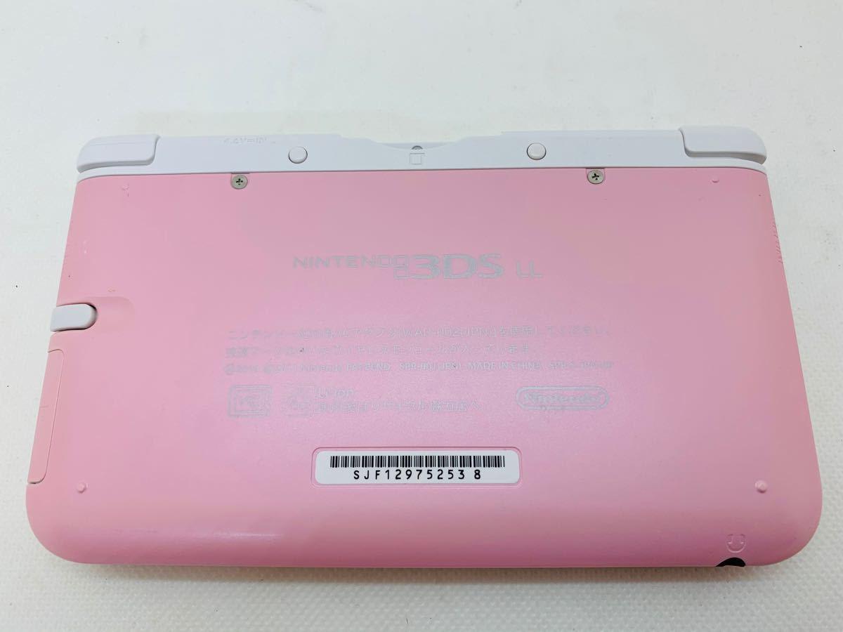 ニンテンドー3DS LL ピンク×ホワイト【美品.状態良】【速達発送】