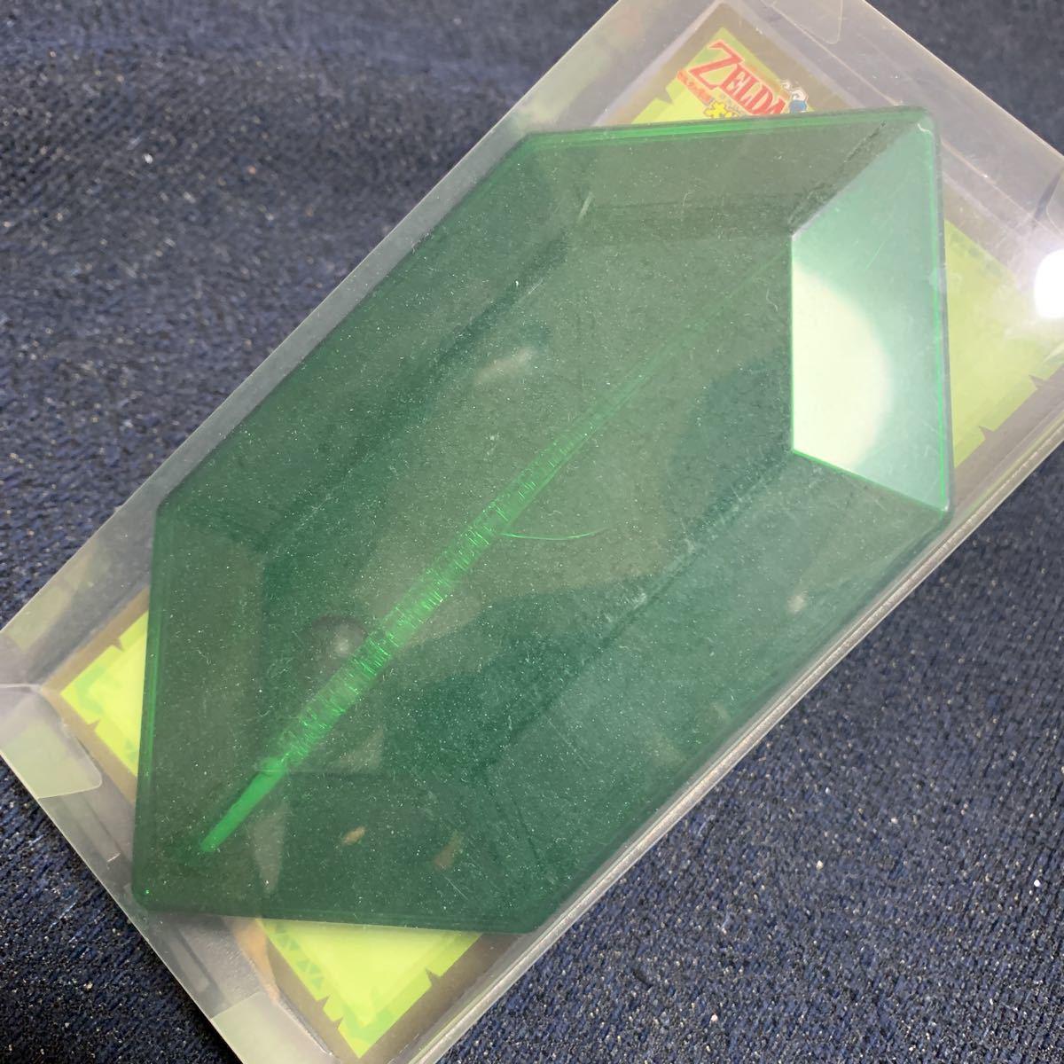 ゼルダの伝説 羽根ペン型 オリジナル透明タッチペン 大地の汽笛 ニンテンドーDS 任天堂 ルピー 型ケース入り_画像4