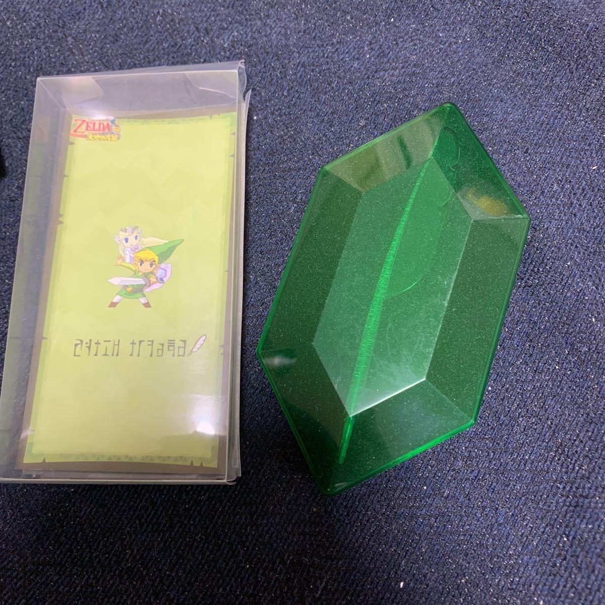 ゼルダの伝説 羽根ペン型 オリジナル透明タッチペン 大地の汽笛 ニンテンドーDS 任天堂 ルピー 型ケース入り_画像6
