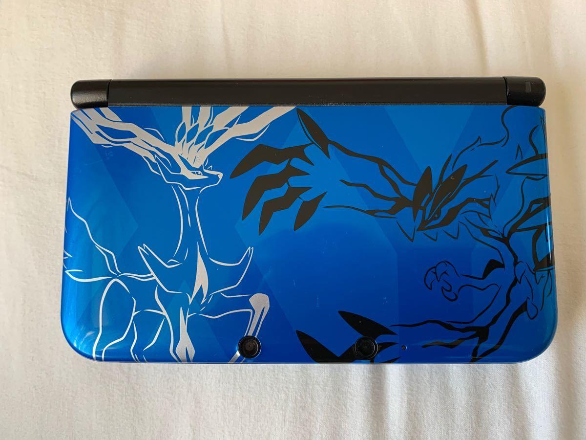 ニンテンドー3DS LL ポケットモンスター Xパック ゼルネアス・イベルタル ブルー ジャンク 動作確認済み