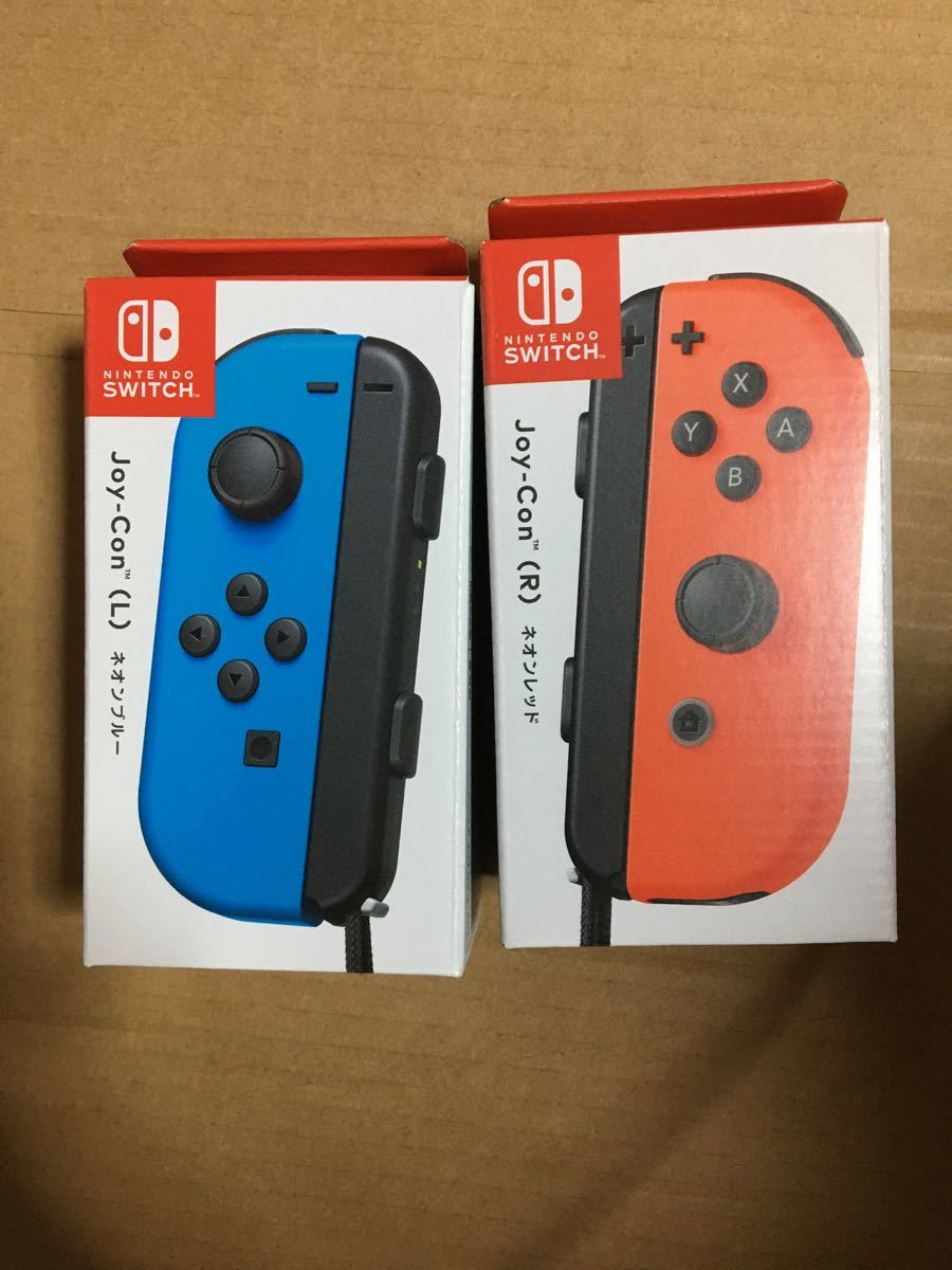 Joy-Con (L)(R) ネオンレッド ネオンブルー Nintendo Switch ジョイコン ニンテンドースイッチ