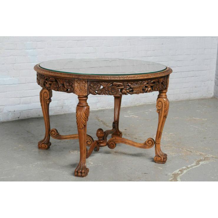 #1584 ヨーロッパ市場在庫品 アンティーク家具 コーヒーテーブル 1920年代 フランス原産 ウォールナット製_画像1