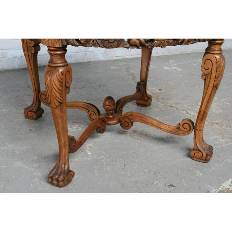 #1584 ヨーロッパ市場在庫品 アンティーク家具 コーヒーテーブル 1920年代 フランス原産 ウォールナット製_画像6