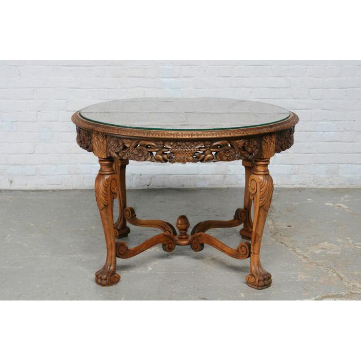 #1584 ヨーロッパ市場在庫品 アンティーク家具 コーヒーテーブル 1920年代 フランス原産 ウォールナット製_画像7